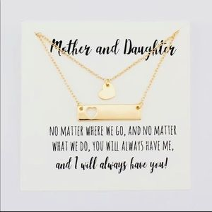 Gold Mother and Daughter necklace